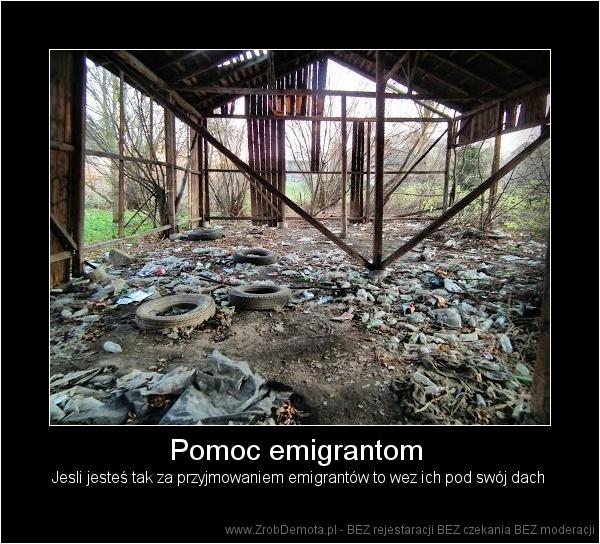 8e6d32cb3d6409 ZrobDemota.pl - Pomoc emigrantom Jesli jesteś tak za przyjmowaniem  emigrantów to wez ich pod swój dach